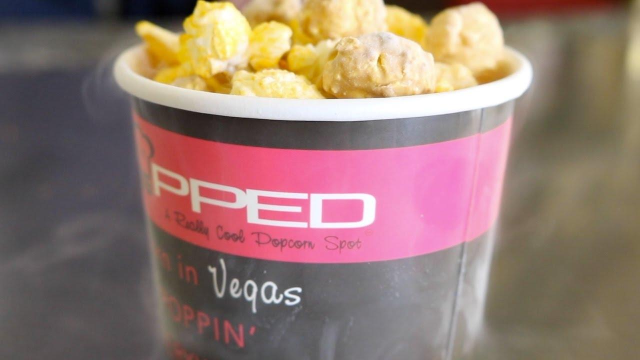 popped frozen popcorn brings liquid nitrogen to las vegas youtube