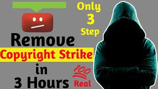 How to remove copyright strike    step bY step full tutorial Hindi...