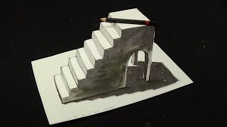 Artistic 3D Illusion - Awesome 3D Drawing Simple Stairs