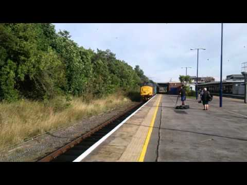 DRS 37402 departing Barrow in Furness Cumbria coast
