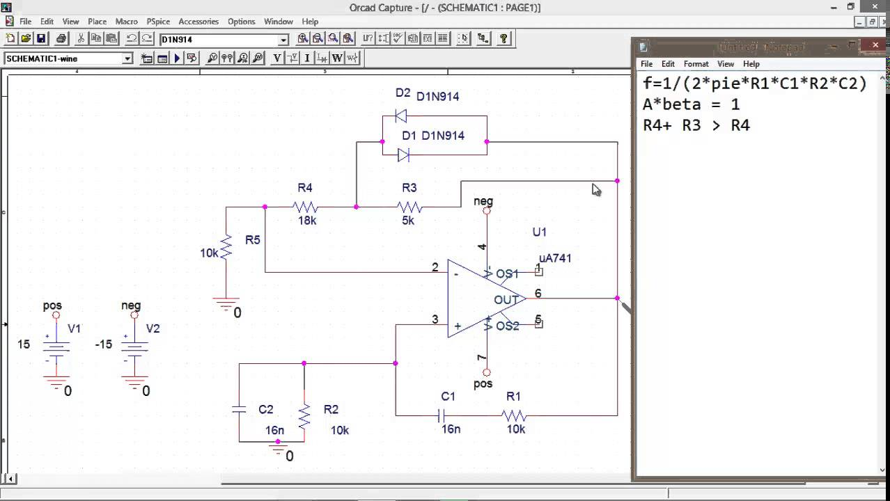 Wien-Bridge Oscillator Op Amp - YouTube on spectrum analyzer schematic, signal generator schematic, electronic mixer schematic, tone control circuit schematic, ammeter schematic, voltmeter schematic, voltage divider schematic, led circuit schematic, breadboard schematic, frequency counter schematic, transistor tester schematic, function generator schematic, current source schematic, gyrator schematic, marx generator schematic, lead-lag schematic, multimeter schematic, esr meter schematic,