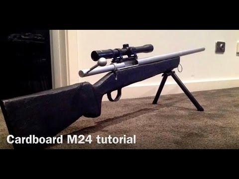 CARDBOARD M24 SNIPER RIFLE TUTORIAL P1