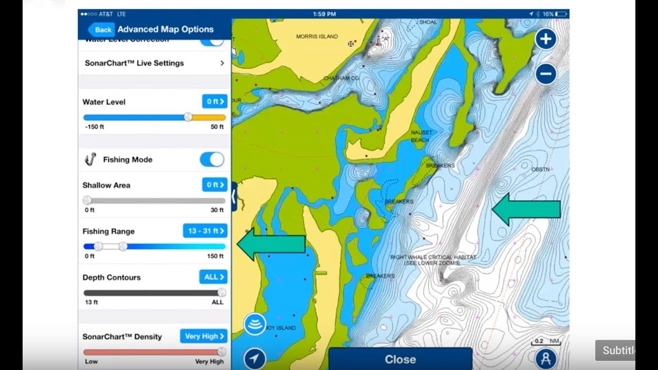 How To Find Fishing Spots Using Bottom Contour Maps Navionics - Fishing contour maps