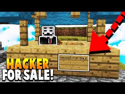 HACKER SOLD TO PLAYERS! - (Minecraft Hacker Trolling)