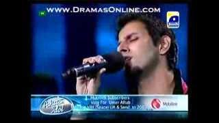 Pakistan Idol 15 Umar Aftab singing Very good song Top 24 round