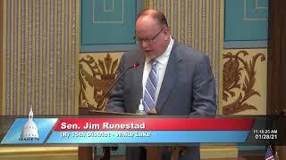 Sen. Runestad addresses the Senate on latest restaurant order