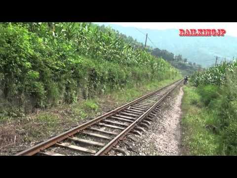広元市・栄山鉄路の沿線風景 Scenery of along Guangyuan Rongshan Railway