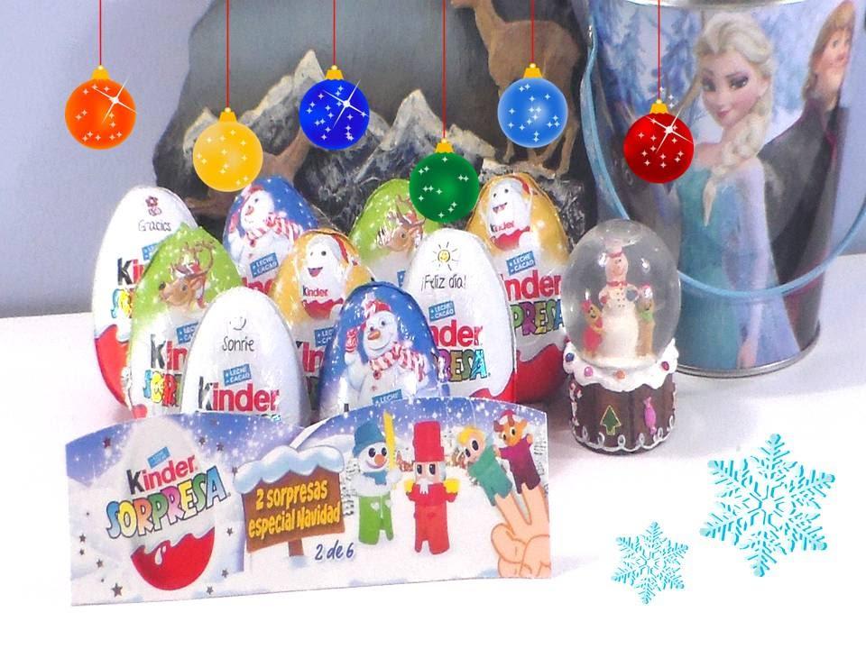 Huevos kinder sorpresa navidad huevos con sorpresas y - Sorpresas para navidad ...