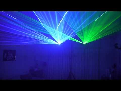 Elation AV - Equinox Blue & Green Laser - Master/Slave DMX - Running Sound To Light Part 2