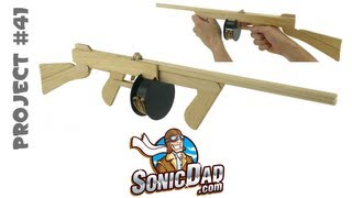 Repeat youtube video How to Make a Sonic Tommy Rubber Band Gun - SonicDad Project #41
