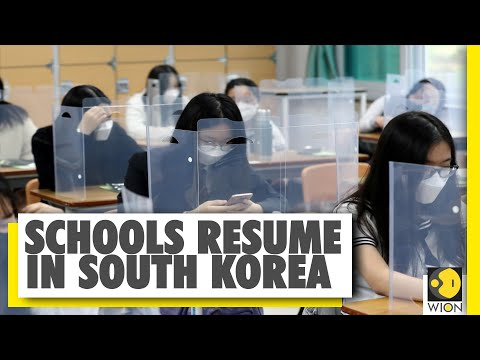 COVID-19 Pandemic: South Korean students return to schools
