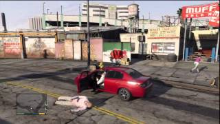 Grand Theft Auto V Gameplay: Franklin Steals A Car From A Movie Set & Assassinates Jackson Skinner