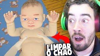 LIMPAR O CHÃO, COM UM BEBÉ!!!