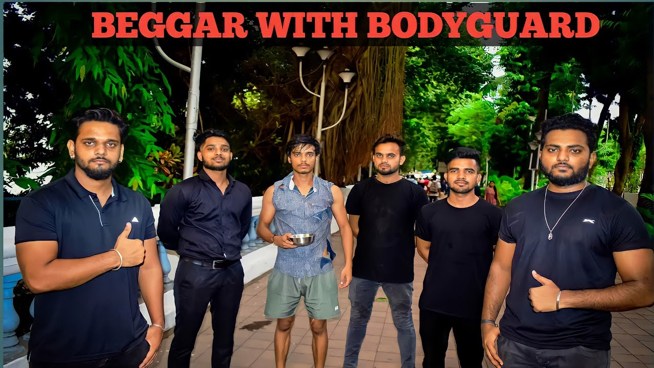 BEGGAR WITH BODYGUARD   BEGGING PRANK   Comedy Brothers