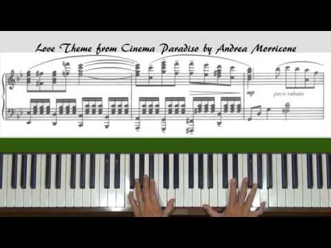 Morricone Love Theme Cinema Paradiso Piano Tutorial