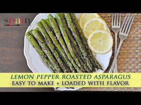 Easy Lemon Pepper Roasted Asparagus Recipe