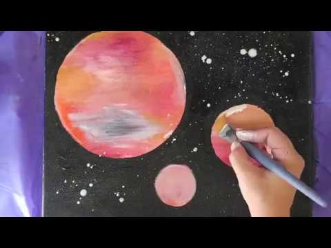 Easy Galaxy Painting For Kids Or Adults Simple And Fun