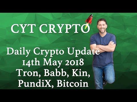 Daily Crypto Update - Tron, Babb, Kin, PundiX, Bitcoin