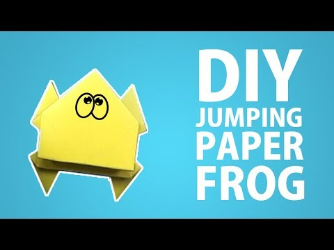 How To Make Simple Easy DIY Jumping Frog With Paper That Jumps High | WOW THINGS | Easy Tutorial