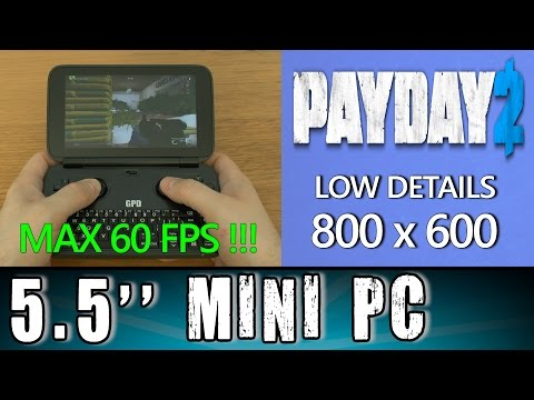 5.5'' GPD Win PayDay 2 (PC) Intel X7 Z8700 Portable Handheld Gaming Mini PC