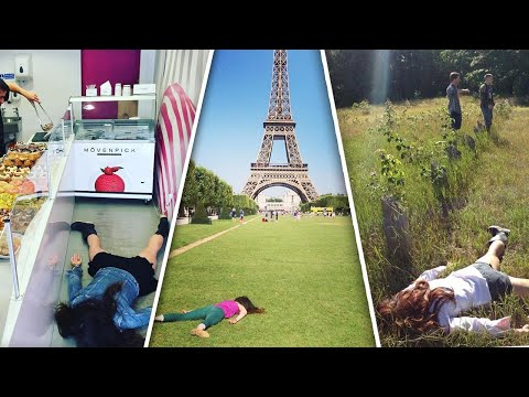 Travel Instagrammer Plays Dead in Popular Selfie Spots