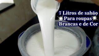 Sabão Liquido Para Roupas Brancas e de Cor – Com Bicarbonato e Álcool