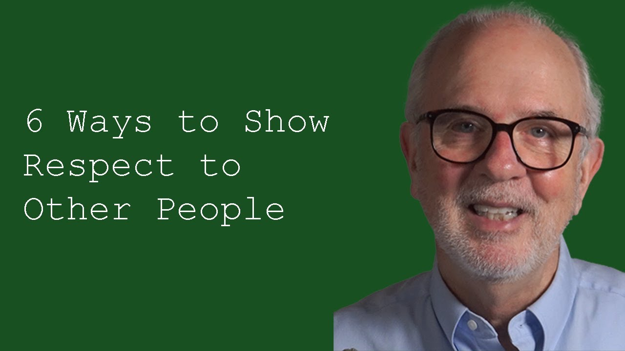 ways to respect people