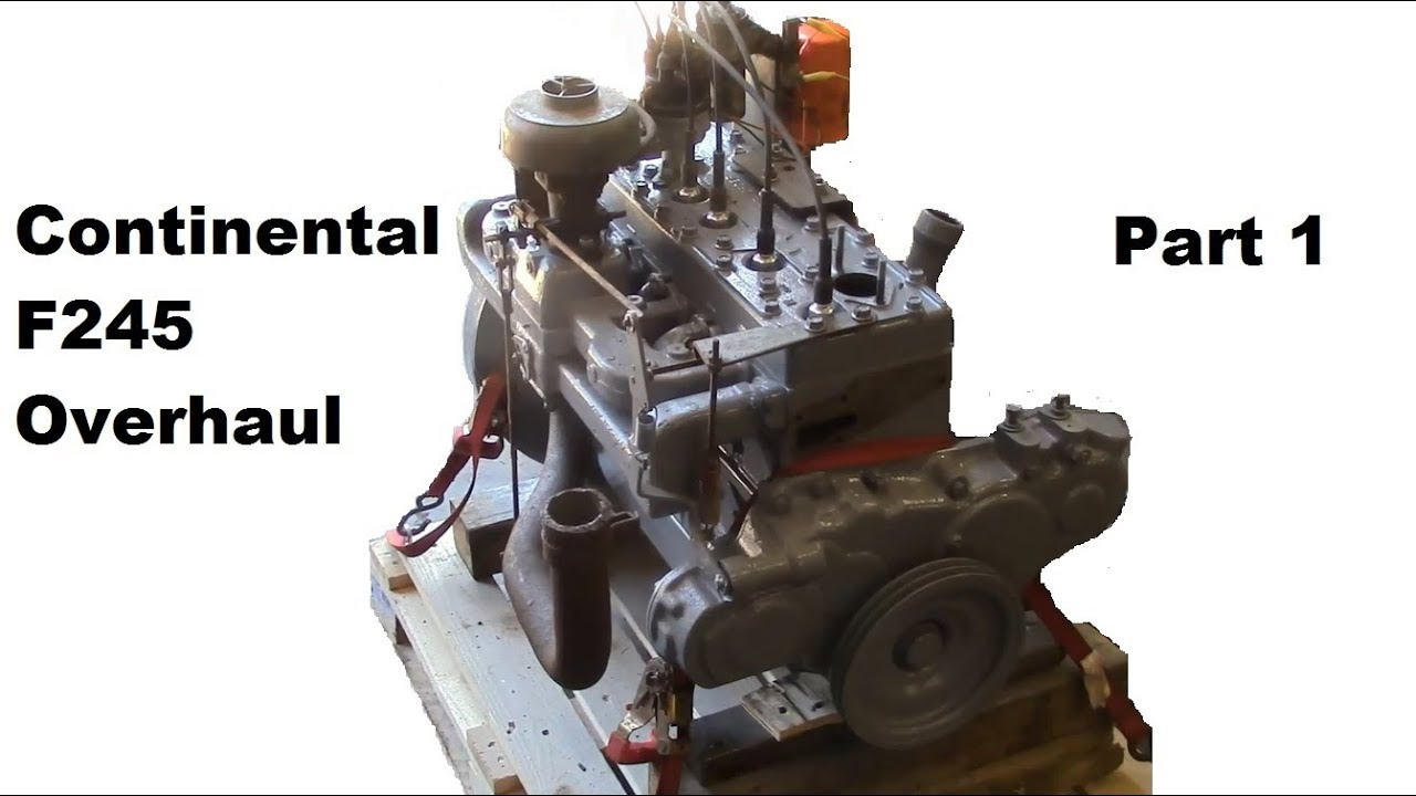 Continental F245 Flathead Engine Overhaul - Part 1 (building the short  block)