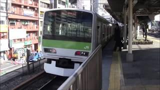 【山手線】内回り五反田入線発車 男性車掌さんがしっかり鳴らす発車メロディ Yamanote Line Train in SInagawa TOKYO Japan with station music