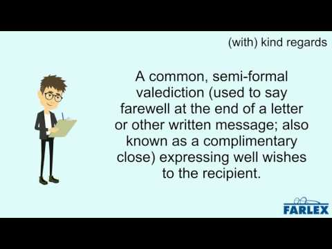 (with) kind regards