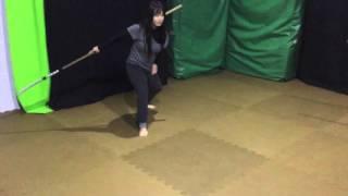 naginata、Japanese halberd 、long japanese sword Action!