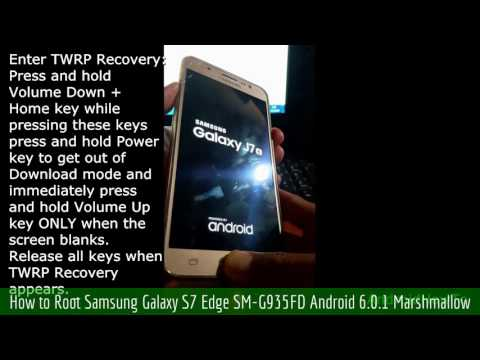How to Root Samsung Galaxy S7 Edge SM-G935FD Android 6.0.1 Marshmallow
