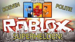 ROBLOX Mad City Crooks police and superheroes! Gameplay in English