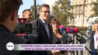Dömötör Csaba: a baloldal nem alkalmas arra, hogy ellenálljon a bevándorlási terveknek