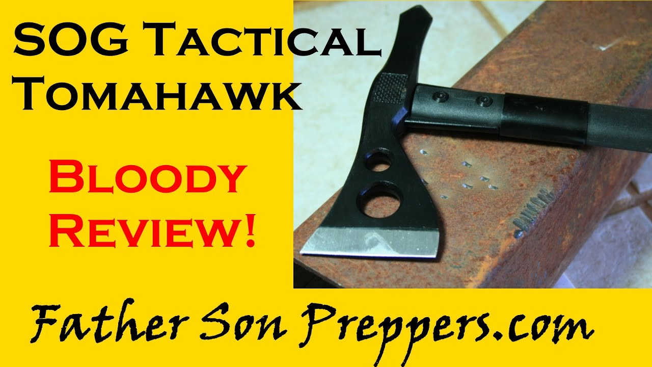 SOG Tactical Tomahawk: Bloody Review! | Father Son Preppers