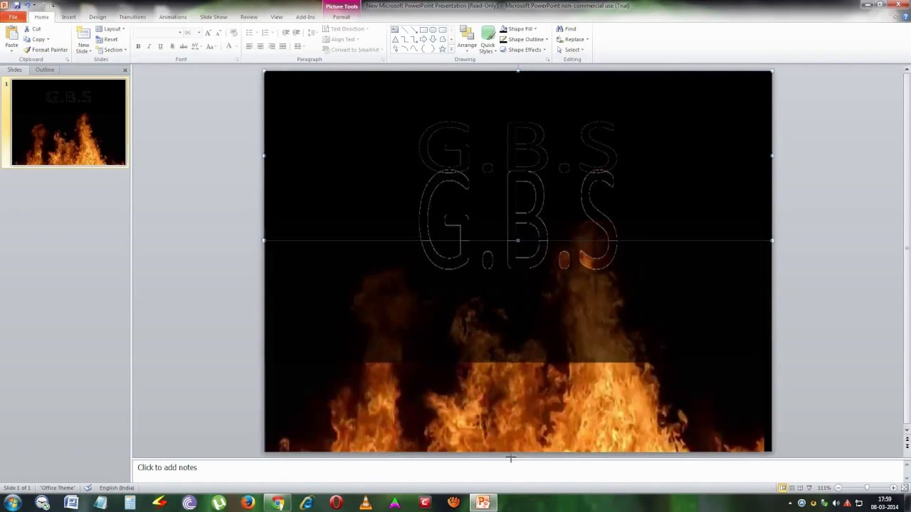 how to create motion fire text in powerpoint - youtube, Powerpoint templates