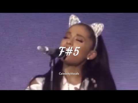 ARIANA GRANDE: Live Vocal Range (D3-B5-G#7) ♡ CELEBRITYVOCALS