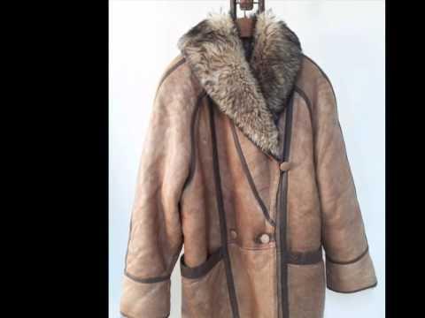 Vintage GENUINE SHEEPSKIN SHEARLING WOMEN MEN FUR COAT JACKET ...