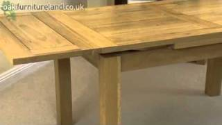 """4ft 7"""" X 3ft Solid Oak Extending Dining Table From Oak Furniture Land"""