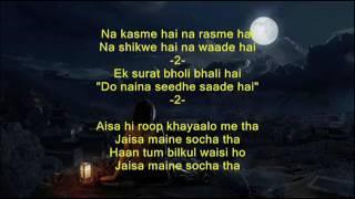 Chand si mehbooba ho meri - Himalaya ke God Main - Full Karaoke