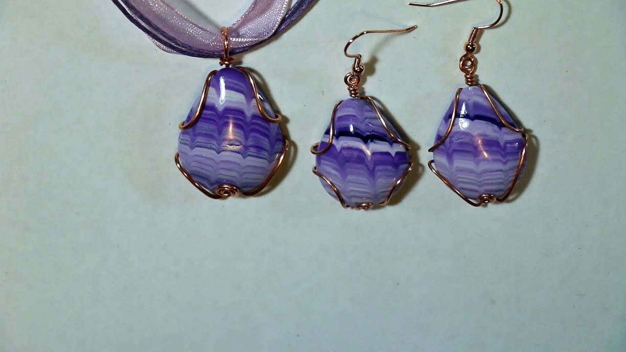 Wire Wrapped Polymer Clay Cabochon 1 - YouTube