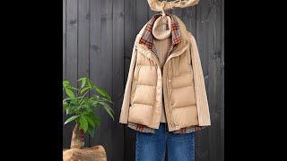Женский жилет с воротником стойкой зимний длинный хлопковый в корейском стиле купить с Aliexpress