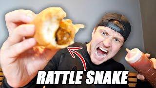 RATTLESNAKE HOT DOG TASTE TEST!!