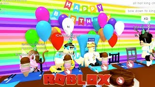 Mods Threw Me an EPIC Surprise Birthday Party Bash in Roblox MeepCity!!!