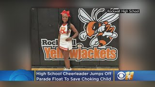Ready, OK! High School Cheerleader Jumps Off Parade Float, Saves Choking Child