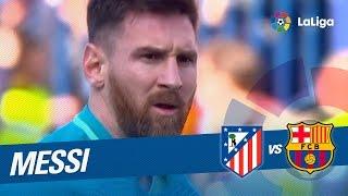 Lanzamiento de falta de Messi parado por Oblak