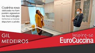 Gil Medeiros e um doce de cozinha no Inspire-se EuroCuccina
