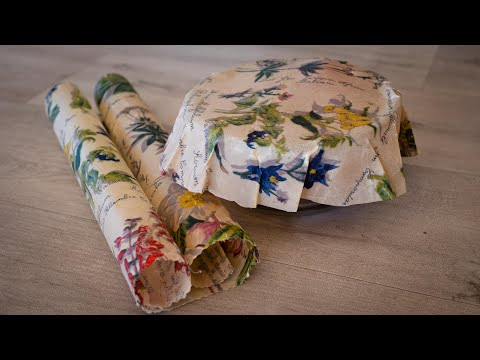 How to Make Reusable Wax Wrap Food Covers (My New Method!)