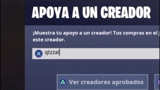 supporting my friend in supports a creator in FORTNITE, and your. To who support?