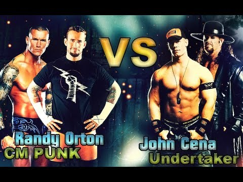 WWE 13: CM Punk - Randy Orton Vs John Cena - Undertaker ...